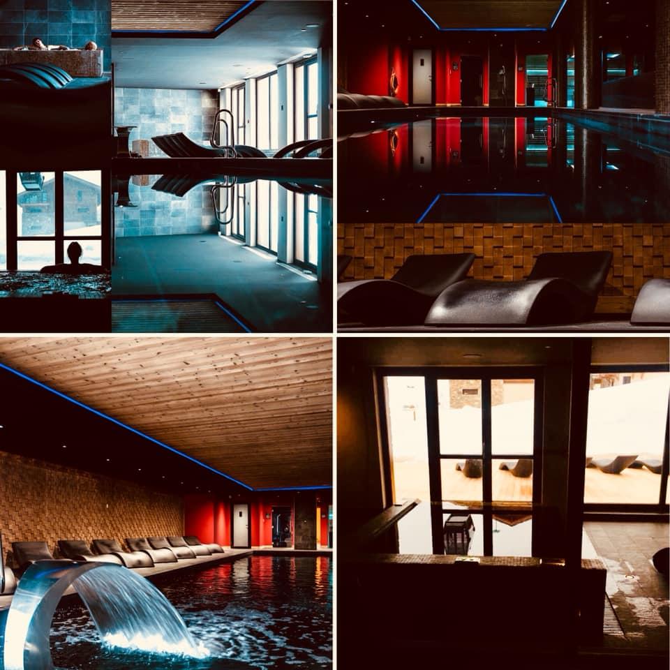 Agencement de la piscine de l'Hotel Daria-I-Nor à l'Alpe d'Huez !
